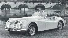 Jaguar Xk140 Roadster Front view (1955)