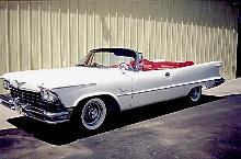 Imperial Crown Convertible Front ViewWhite  (1957)