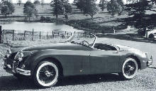 Jaguar Xk150 Roadster Side view (1958)