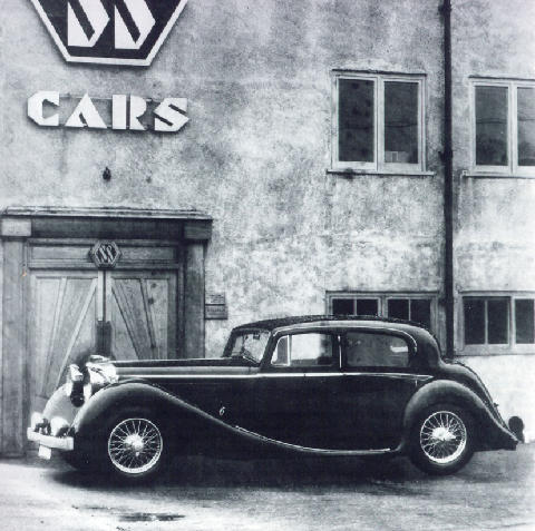 Jaguar SS 3.5 Litre Saloon Side view (1939)