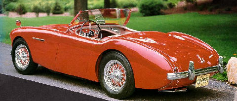Austin Healey 100/4 Roadster Rvl Red  (1955)