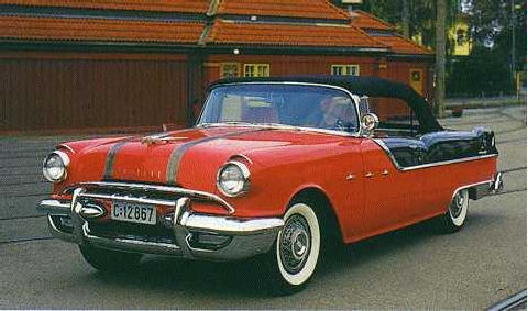 Pontiac Star Chief Convertible Front View Larmac  (1955)