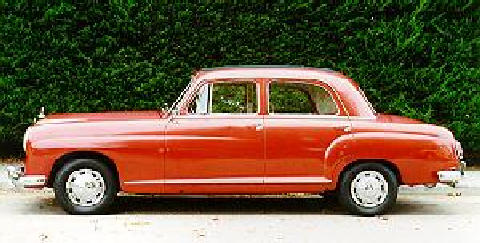 Mercedes Benz 219 Side View (1956)
