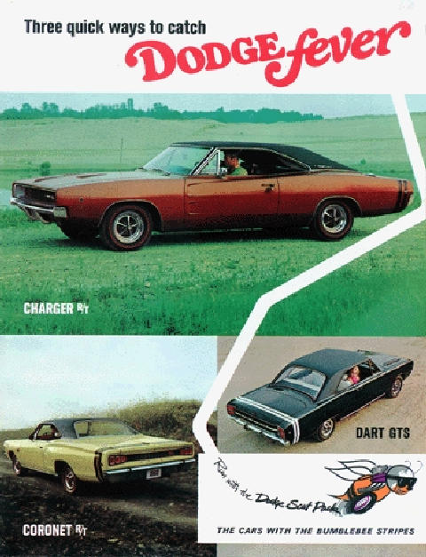 Dodge Fever Brochure 3cars (1968)