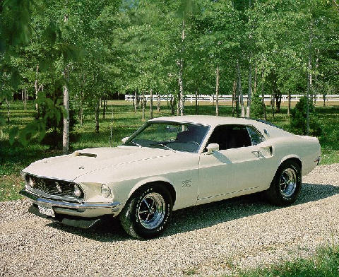 Ford Mustang Boss 429 Fastback White  (1969)