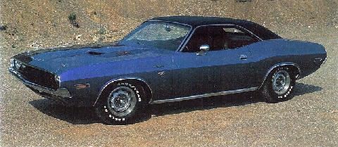 Dodge Challenger Rt440 6blue Front View(1970)