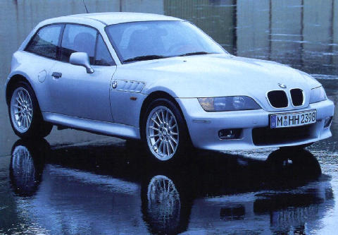 BMW Z3 Coupe 2 8 Front view (1998)