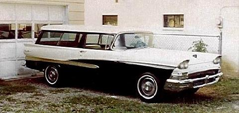 Ford Ranch Wagon Blackwhite  Fvl Steve Max  (1958)