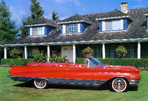 Buick Electra 225 Convertible, Red Svr Max  (1960)