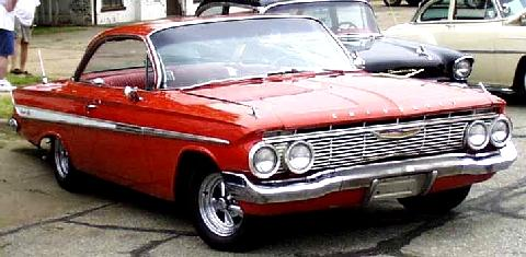 Chevrolet Impala Sports Coupe Red  Fvr Carnut Mmod  (1961)