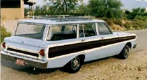 Ford Falcon Squire Wagon Blue  Rvr Steve Max  (1964)