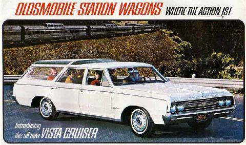 Oldsmobile F 85 Vista Cruiser White Brochure Page (1964)