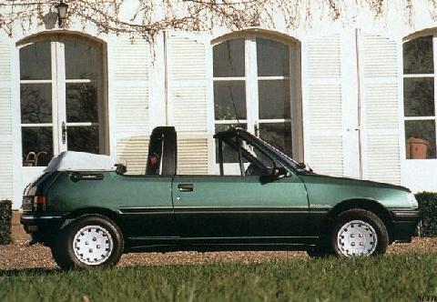 peugeot 205 cabriolet roland garros (1991) - picture gallery - motorbase