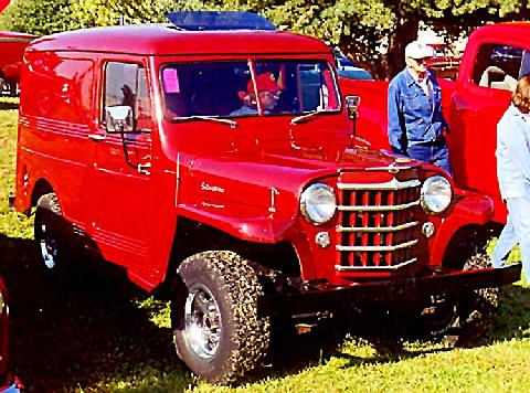 Willys Jeep Suburban 4x4 Red  Fvrcarnut(1949)