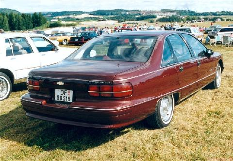 Chevrolet Caprice Classic Sedan, Maroon, Rear2 (1991)