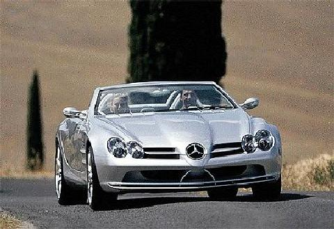 2000 Mercedes Benz Vision Slr Roadster Front View