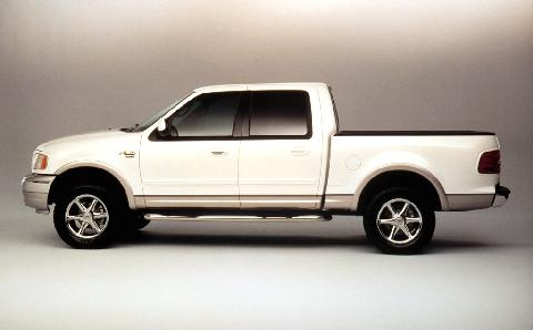 2001 Ford F150 Crew Cab, White, Side