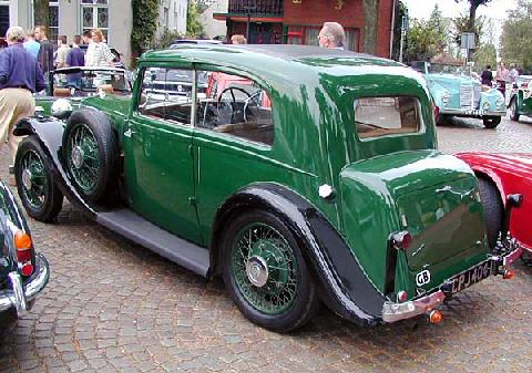 Armstrong Siddeley 17 Hp Sports Foursome 1935 Rear three quarter view