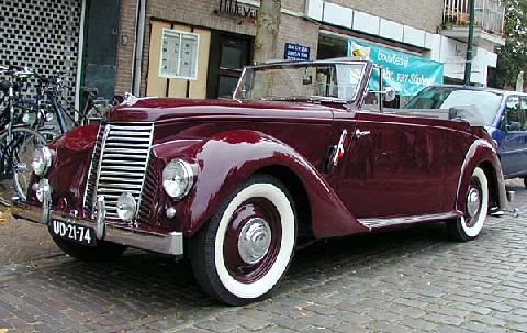 Armstrong Siddeley Typhoon Convertible 1950 Front three quarter view