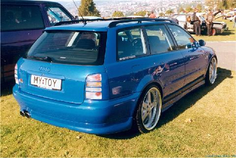 Audi A4 Avant, Heavily Customized, Blue