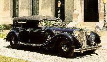 Mercedes Benz 770k Cabriolet Black  Front view (1940)