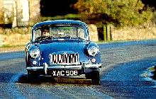 MGA Coupe Blue Fv Cornering (1957)