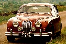 Jaguar Mk2 3.4 Saloon Red Front View (1962)