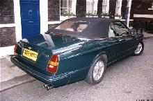 London 1999. 1995 Bentley Azure, Green, Rear