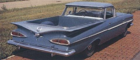 Chevrolet El Camino   Blue   Rear (1959)