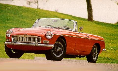 MGB Roadster Red  Fvl Up (1962)