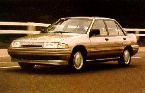 Mercury Tracer Sedan Lts  Front View (1991)