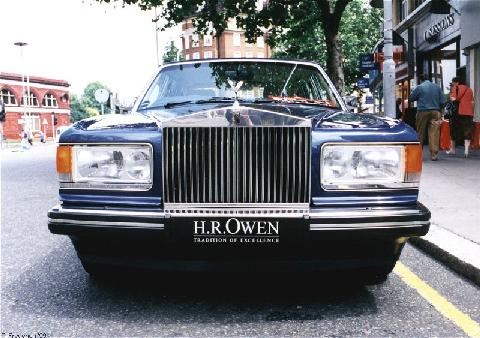 London1999. 1989 93 Rolls Royce Silver Spirit, Front