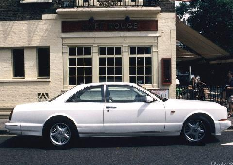London1999. 199x Bentley Continental R, White, Side