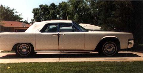 Lincoln Continental Convertible   Imrom White   Top Up   Side Shot (1963)
