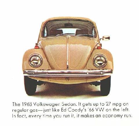 Volkswagen Beetle Front View 1968 Picture Gallery