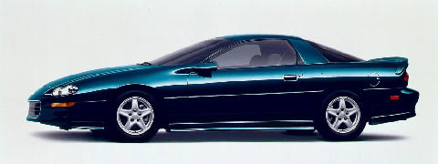 Camaro Coupe, Rs Appnce Pckge, Blue, Side1 (1998)