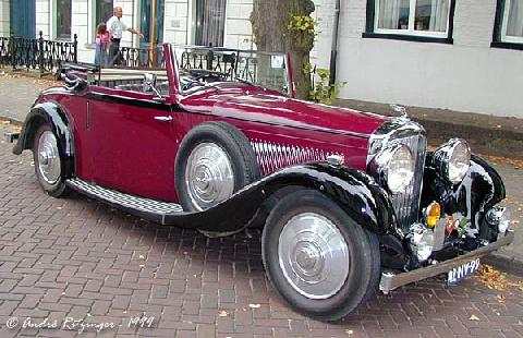 Bentley 3 5 Litre Convertible 1935 Front Three Quarter