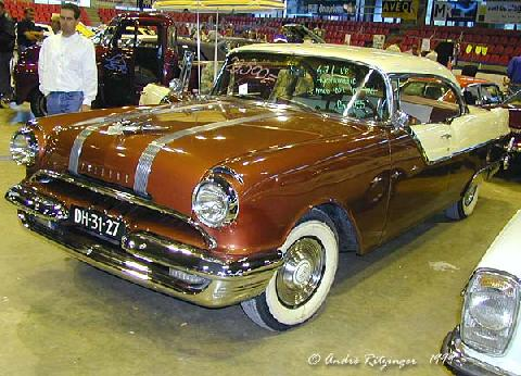Pontiac Chieftain Catalina Coupe 1955 Front three quarter view