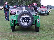 Buckler MkVI, Green Bodywork, Rear View