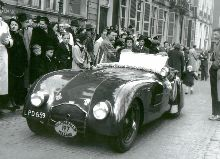 1947 Aerodynamic. The Hague. Tulip Rally 1950. Brian Holroyd