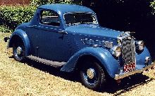 1936 Wolseley Series II 12/48 Coupe with Australian body by GH Olding of Sydney. One of six similar cars made by Oldings.