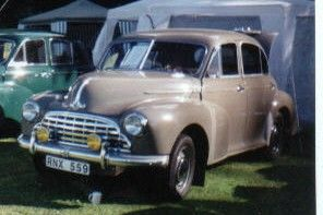 This is a Morris Oxford Mo 1950.It�s unrestored and has run about 80000 km since new. The first owner kept the car in his livingroom(!) when it was new.The MO is a rather nice car and is worth saving.