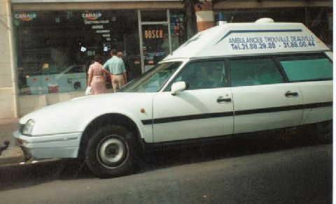 A CX Safari specially converted into an ambulance, once quite a common sight throughout France.