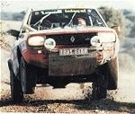 this is a photograph of the renault 20 that won the paris dakar rally in 1982