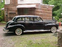 this is a 1947 Cadillac Imperial Business Sedan. There were only 80 of these cars made in that year. They were 9 Passanger sedans and were part of the series 75