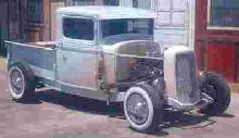 1933 Ford Model B pickup just acquired from a garage it has sat in for 30 years. Has a flat head 8