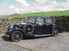 1936 Alvis Silver Eagle SG 16.95 with Sport Saloon body by Holbrook. Pictured in Yorkshire, the car is now in Ohio.