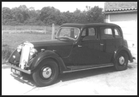 This is a picture of my 1939 Rover 14 that I owned 1968c