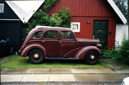 My 1939 Ford Prefect ready for restauration. The car has been in Denmark ever since it was first registered.