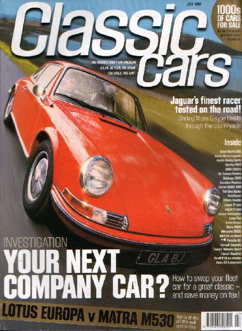 Classic Cars July 1999 cover